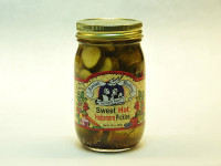 6 hot habanero pickles