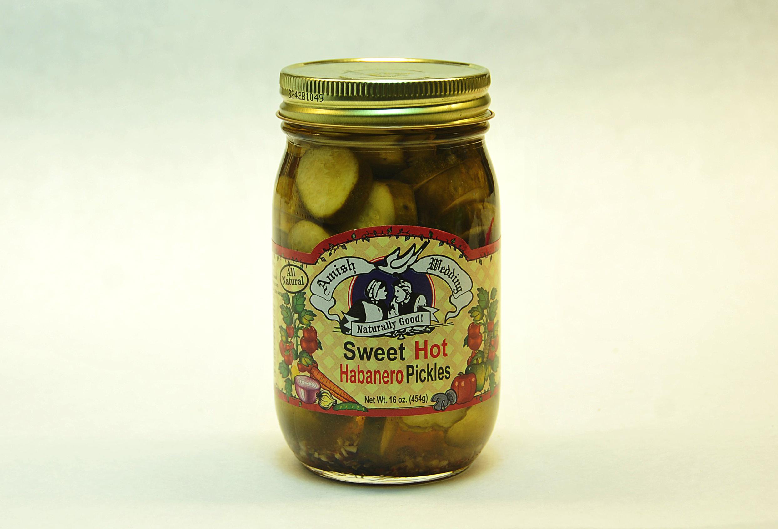 Sweet Hot Habanero Pickles - Taste of Amish
